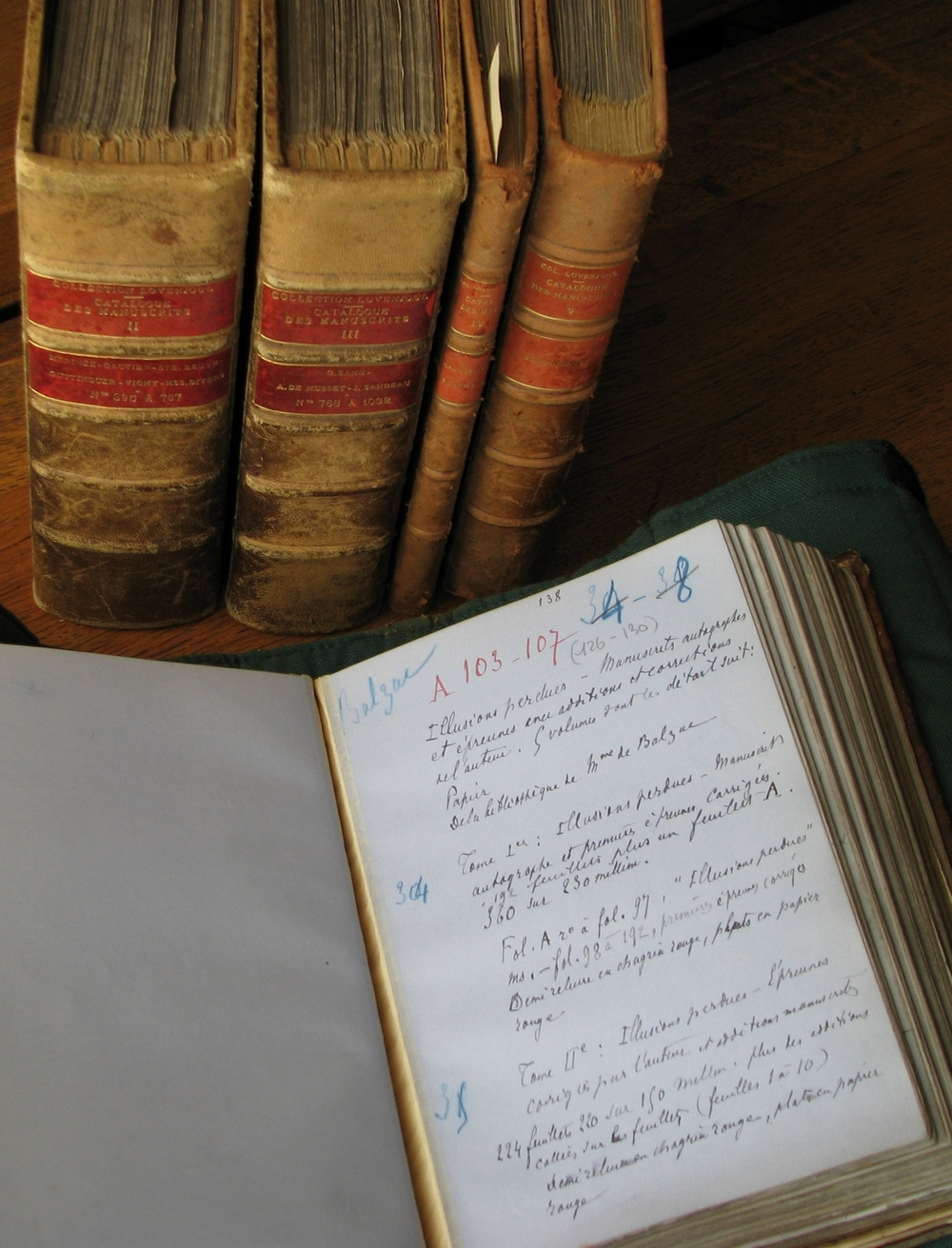 Catalogue des manuscrits. © Bibliothèque de l'Institut de France / Olivier Thomas