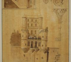 Dessins de Charles Percier, Ms 1013, fol.17 pièce 70 © RMN-Grand Palais
