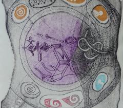 L'Iliade. Gravure sur cuivre, Remo Giatti - 4° N.S. 147073 Réserve © Olivier Thomas. Bibliothèque de l'Institut de France