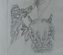 L'Odyssée. Gravure sur cuivre, Eric Massholder - 4° N.S. 147074 Réserve © Olivier Thomas. Bibliothèque de l'Institut de France