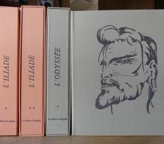 Livres d'artistes :  L'Iliade et L'Odyssée - 4° N.S. 17073 Réserve et 4° N.S. 17074 Réserve © Olivier Thomas. Bibliothèque de l'Institut de France