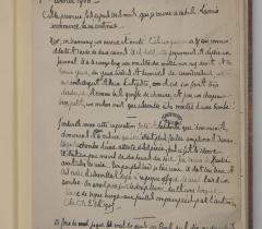 Papiers d'Henri de Régnier : Ms 6310, f.1r