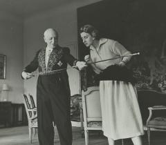 André Maurois et Michelle, sa fille. Ms 8505