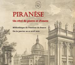 Affiche de l'exposition Piranèse Un rêve de pierre et d'encre