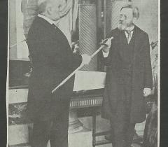 M. Paléologue remet à M. de Nohlac son épée d'académicien. Don Georges Manal © Bibliothèque de l'Institut de France