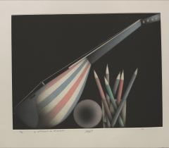 La Diagonale du troubadour / Mario Avati. © Bibliothèque de l'Institut de France