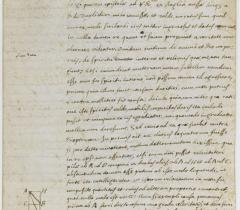 Lettre autographe de Descartes au père Marin Mersenne 1