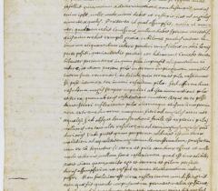 Lettre autographe de Descartes au père Marin Mersenne (2)