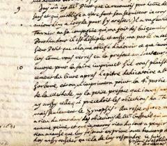 Lettre de Descartes du 27 mai 1641 (moitié inférieure du 2e feuillet verso)