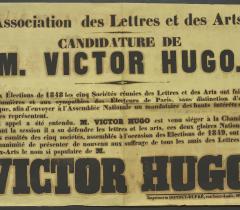 Lovenjoul Affiches 1848-1849 in-4° Réserve. Pièce n° 2. Candidature de Victor Hugo. © Bibliothèque de l'Institut de France