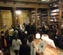 Inauguration du Cabinet d'estampes contemporaines_Discours d'Érik Desmazières © Bibliothèque de l'Institut de France