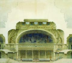 Projet de nouveau palais de l'Institut par Émile-Jules Piat et Auguste-Léon Roy (fin XIXe siècle). © Bibliothèque de l'Institut de France