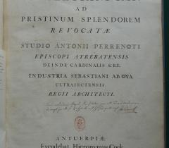 Document du mois : Thermes de Dioclétien, page de titre