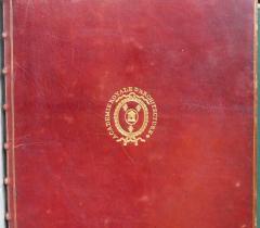 Document du mois : Thermes de Dioclétien, reliure