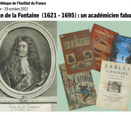 Affiche exposition Jean de La Fontaine : un académicien fabuleux