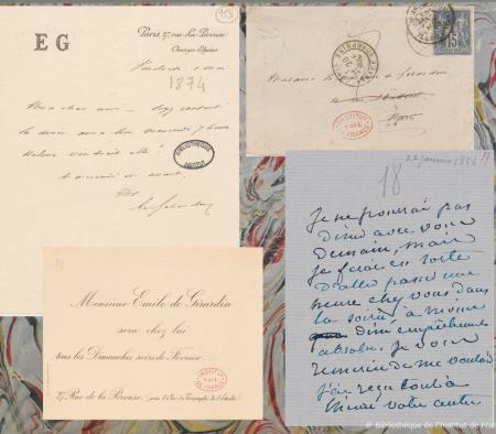 Correspondance d'Emile de Girardin. © Bibliothèque de l'Institut de France